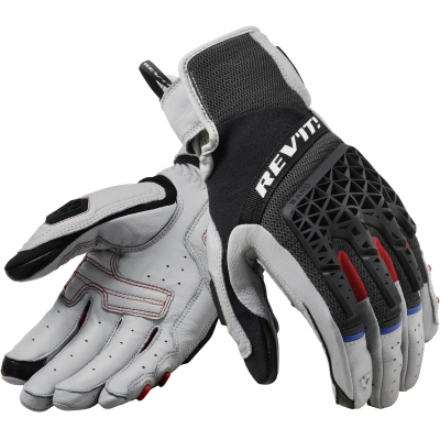 REVIT rukavice SAND 4 light grey/black