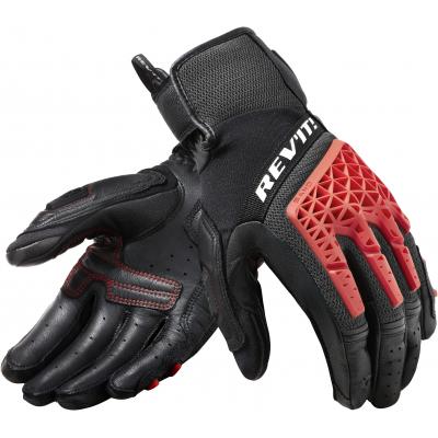 REVIT rukavice SAND 4 black/red