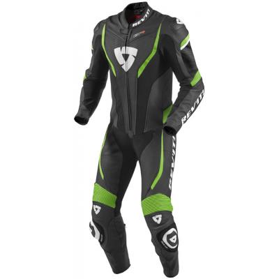 REVIT kombinéza GT-R 1-dílná pánská black/acid green
