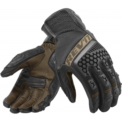 REVIT rukavice SAND 3 black/sand