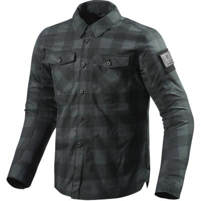 REVIT košile BISON black/grey