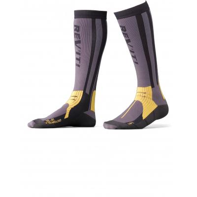 REVIT ponožky TOUR SUMMER grey / yellow