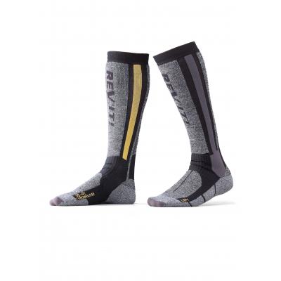 REVIT ponožky TOUR WINTER grey/yellow
