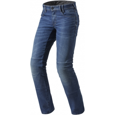 REVIT kalhoty jean AUSTIN TF Short medium blue