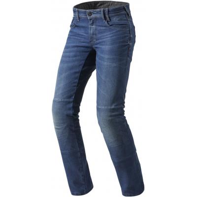 REVIT kalhoty jean AUSTIN TF Long medium blue