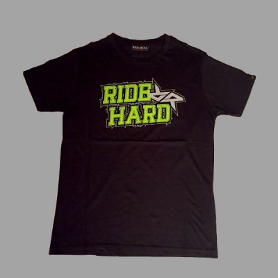 RIDE AND ROLL KREW tričko RIDE HARD Acid black