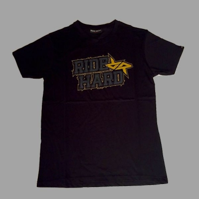 RIDE AND ROLL KREW tričko RIDE HARD Gold black