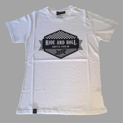 RIDE AND ROLL KREW triko OIL CAN white