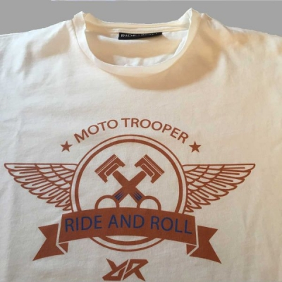 RIDE AND ROLL KREW tričko PISTONS VINTAGE white