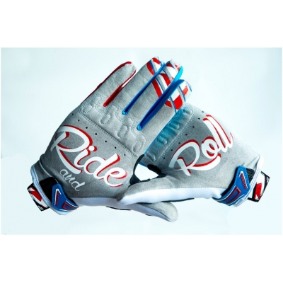 RIDE AND ROLL KREW rukavice PATRIOT white / red / blue