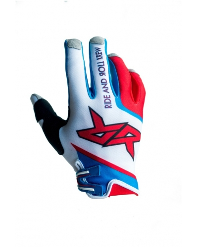 RIDE AND ROLL KREW rukavice PATRIOT white/red/blue