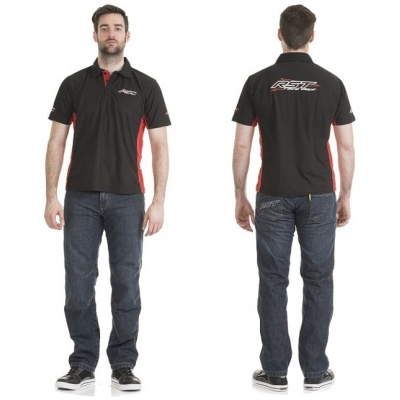 RST triko POLO 0065 black/red