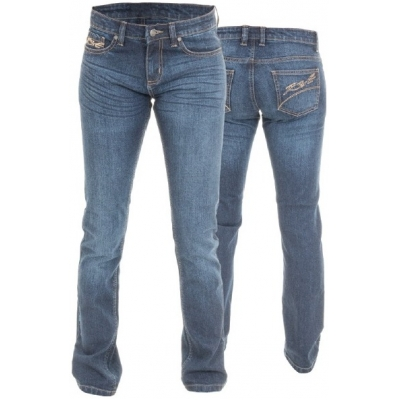 RST kalhoty jean ARAMID STRAIGHT 2221 Short dámské blue