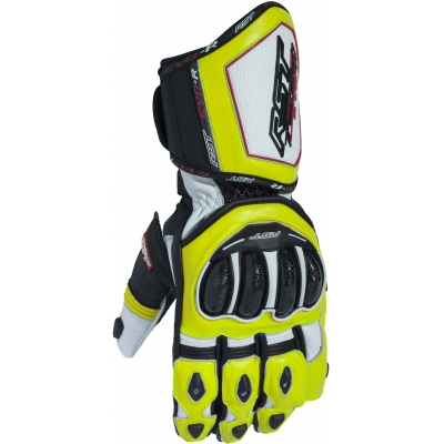 RST rukavice TRACTECH EVO R III CE 2092 white/black/fluo yellow