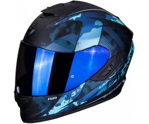 SCORPION přilba EXO-1400 AIR Sylex matt black/blue