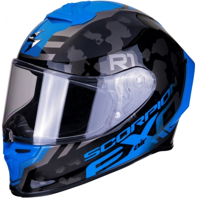 SCORPION přilba EXO-R1 AIR Ogi dark silver/blue