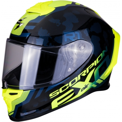 SCORPION prilba EXO-R1 AIR Ogi black/neon yellow