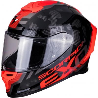 SCORPION přilba EXO-1400 AIR Sylex matt black/red