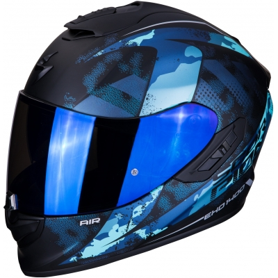SCORPION prilba EXO-1400 AIR Sylex matt black/blue