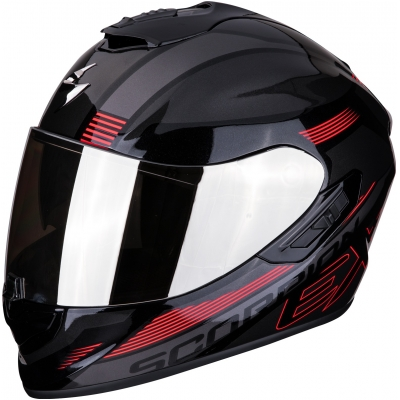 SCORPION přilba EXO-1400 AIR Free metal black/red