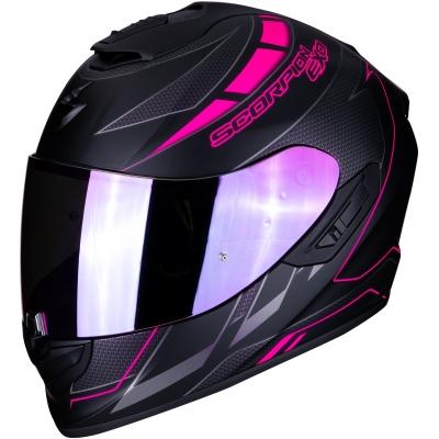 SCORPION prilba EXO-1400 AIR Cup matt black/chameleón pink