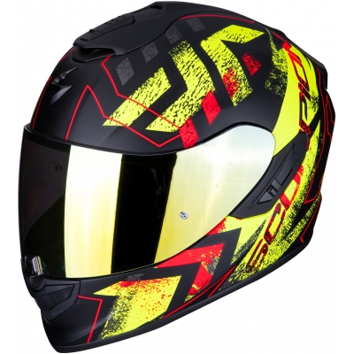 SCORPION prilba EXO-1400 AIR Pict matt black/neon yellow
