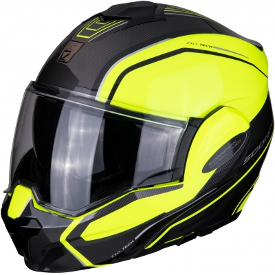 SCORPION prilba EXO-TECH Time-off neon yellow/silver
