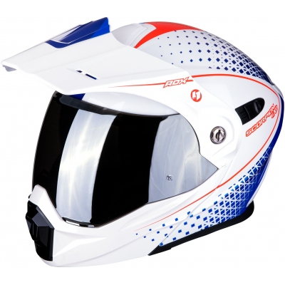 SCORPION prilba ADX-1 Horizon pearl white/red/blue