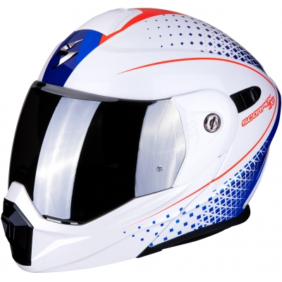 SCORPION přilba ADX-1 Horizon pearl white/red/blue