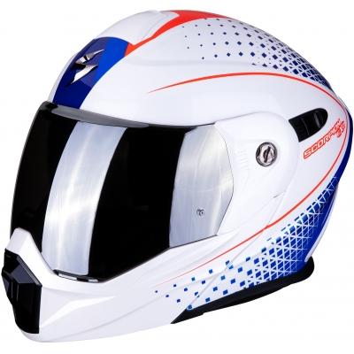 SCORPION přilba ADX-1 Horizon pearl white/red/blue