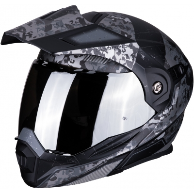 SCORPION prilba ADX-1 Battleflage black/silver