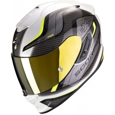 SCORPION přilba EXO-1400 AIR Attune white/neon yellow