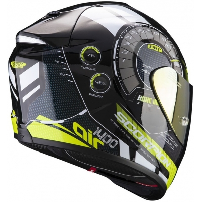 SCORPION přilba EXO-1400 AIR Torque black/neon yellow
