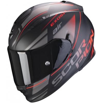 SCORPION přilba EXO-510 AIR Ferrum matt black/silver/red