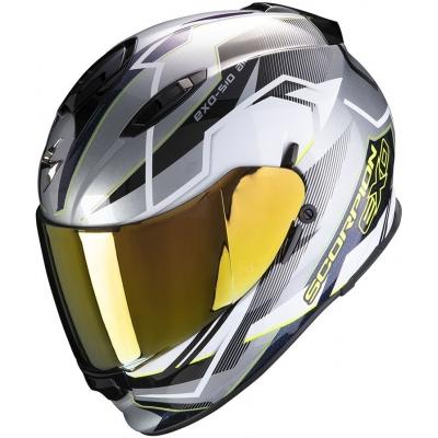 SCORPION prilba EXO-510 AIR Balt silver / white / neon yellow
