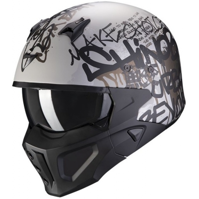 SCORPION přilba COVERT-X Wall matt silver/black