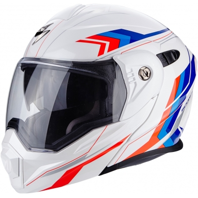 SCORPION prilba ADX-1 Anima white / red / blue
