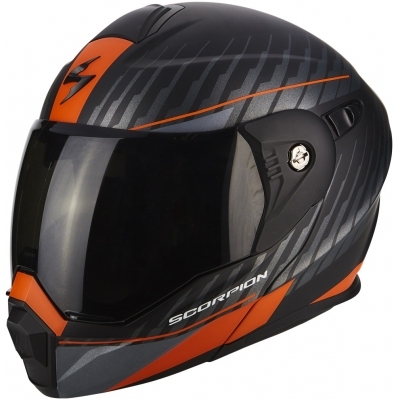 SCORPION prilba ADX-1 Dual matt black/silver/orange