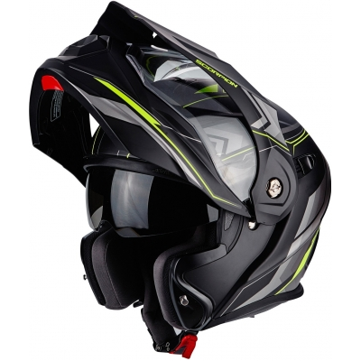 SCORPION prilba ADX-1 Anima matt black / neon yellow - TESTOVACIa