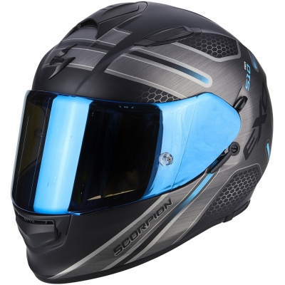 SCORPION prilba EXO-510 AIR Route matt black/blue