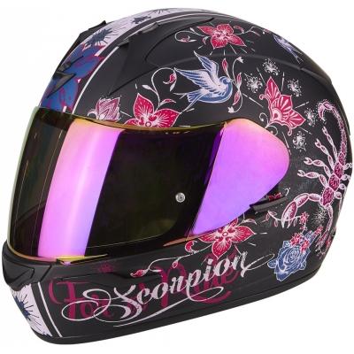 SCORPION prilba EXO-390 Chica matt black/pink