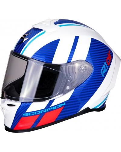 SCORPION přilba EXO-R1 AIR Corpus white-blue-red