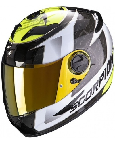 SCORPION přilba EXO-490 Tour white/neon yellow