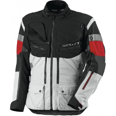 SCOTT bunda ALL TERRAIN PRE DP light grey / red