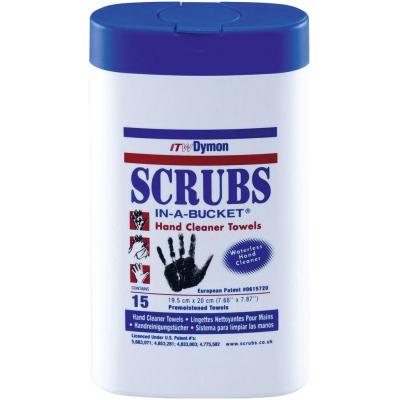 SCRUBS vlhčené utierky na čistenie rúk 15 ks