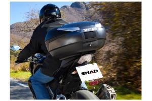 SHAD vrchní kufr SH48 Premium Smart dark grey/carbon s opěrkou
