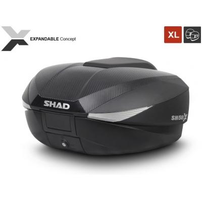 SHAD rozšíriteľný vrchný kufor SH58X carbon