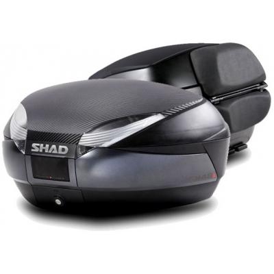 SHAD vrchní kufr SH48 dark grey/carbon s opěrkou