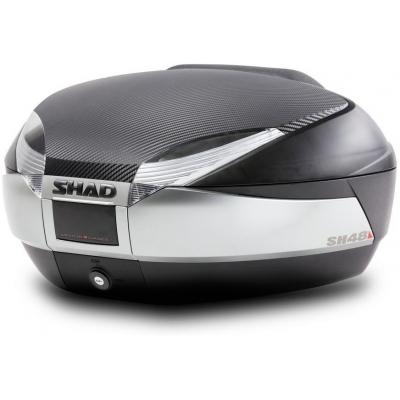 SHAD vrchní kufr SH48 new titanium/carbon s opěrkou