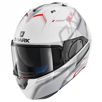 SHARK přilba EVO-ONE 2 Keenser white/silver/red